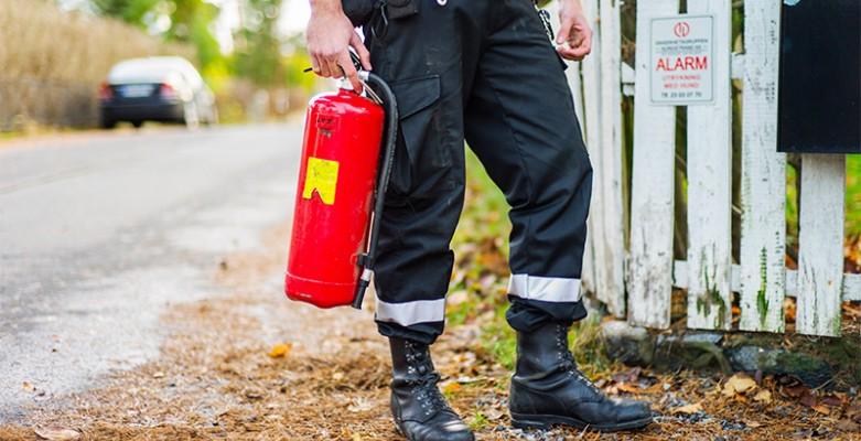 Sjekk røykvarsleren og brannslukningsutstyret ditt